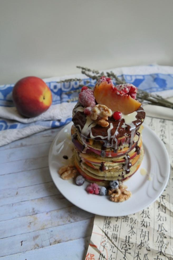 vegan matcha pancake