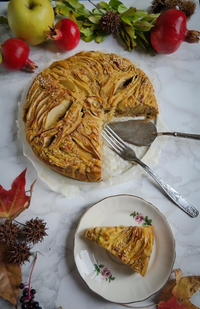 torta di mele vegana soffice