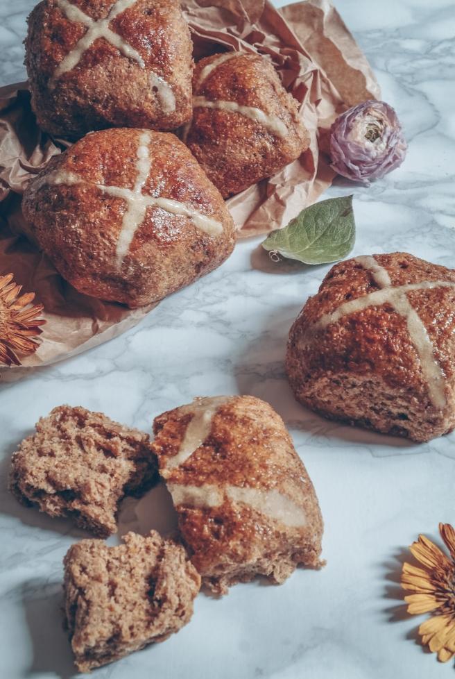 pumpkin hot cross buns