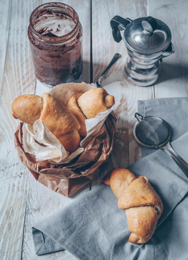 vegan and sugar free croissant