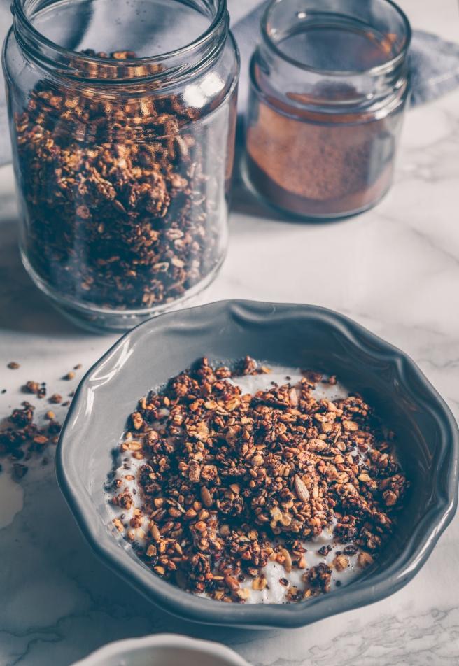 cinnamon sugar free granola