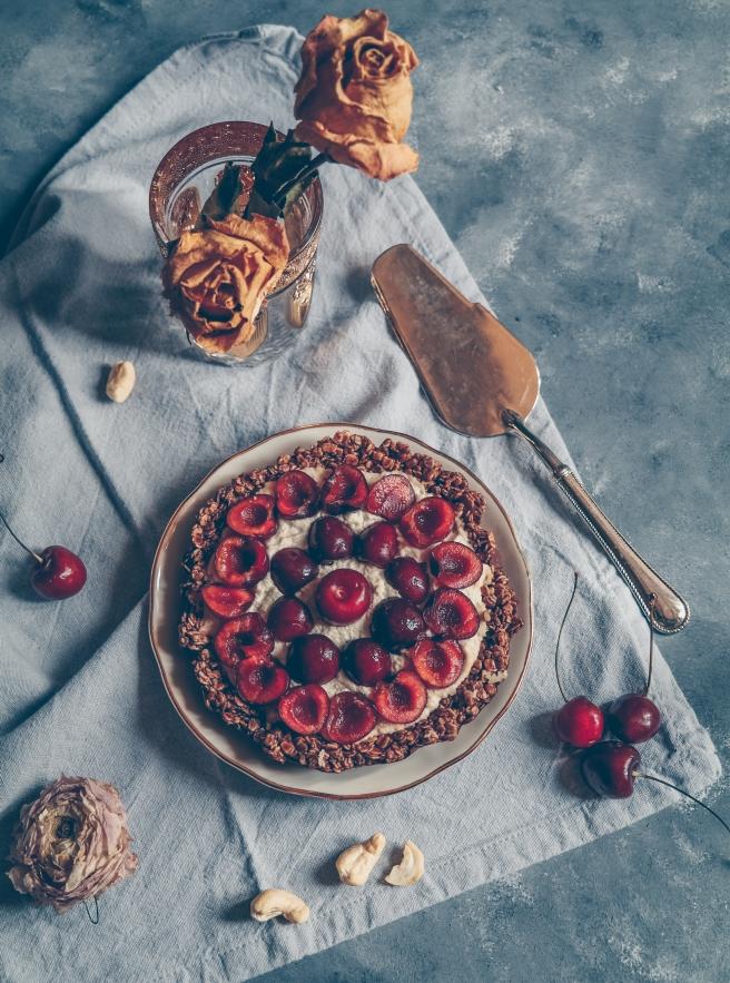 sugar free raw cheesecake cherries