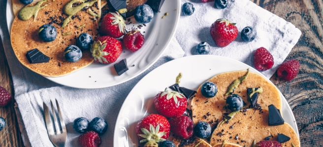 pancake vegani e senza glutine
