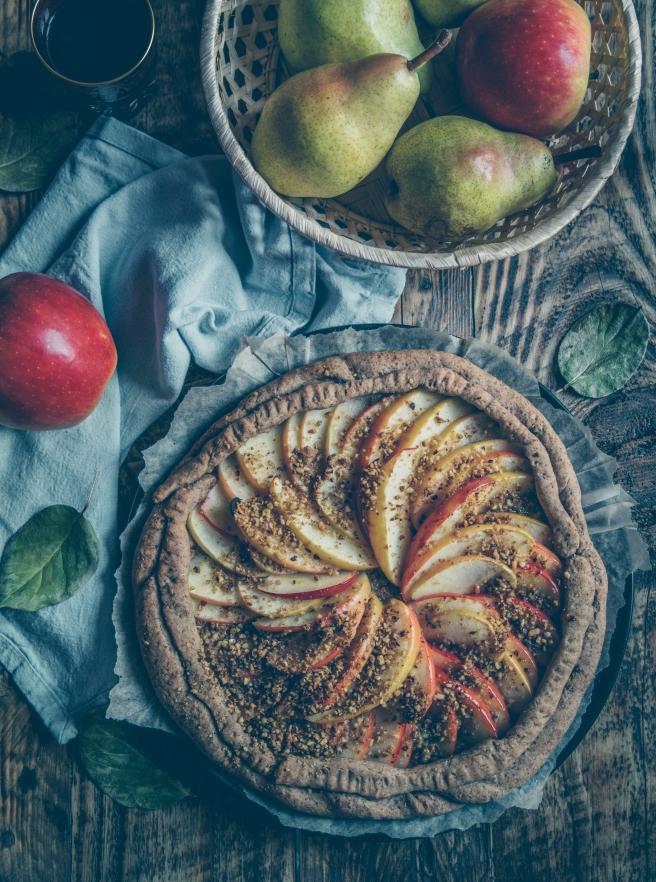 galette di mele vegan e senza zucchero