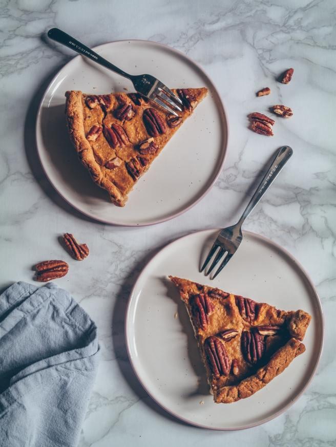 vegan and sugar free pumpkin pie