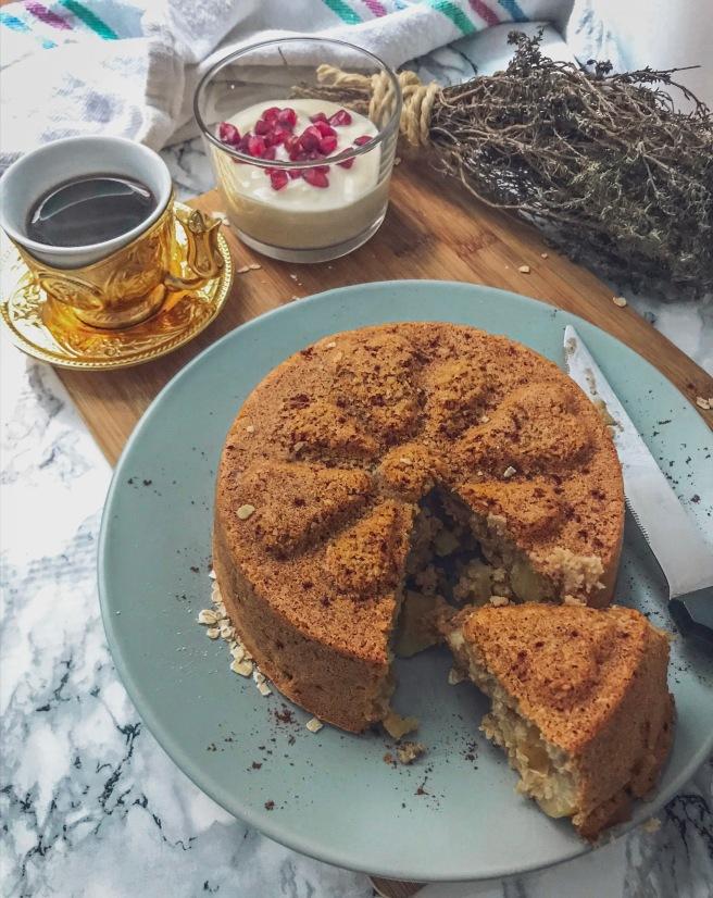 torta con fiocchi d'avena
