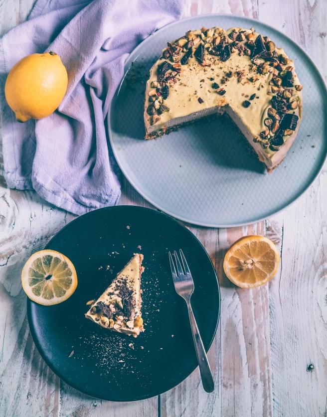 cheesecake vegana limone
