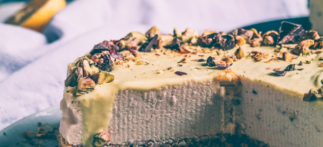 vegan cheesecake vaniglia e limone